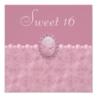 Rosa Vintager Miniatur-u. Perlen-Bonbon 16 Ankündigungen