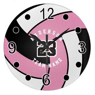 Rosa Volleyball-Art mit DIY Text Uhr