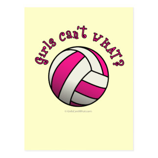 Rosa Volleyball Postkarte