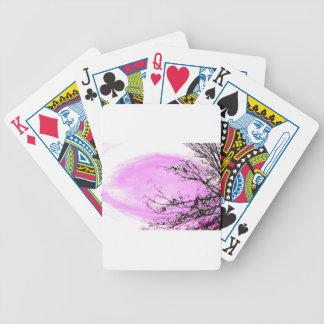 Rosa Waldentwurf durch Jane Howarth Bicycle Spielkarten