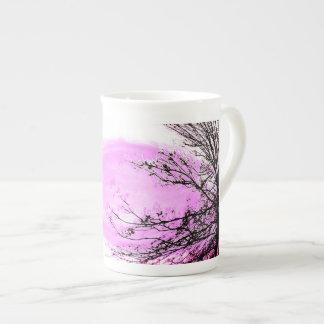 Rosa Waldknochen-China-Tasse durch Jane Howarth Porzellantasse