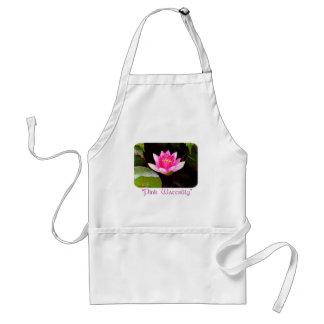 Rosa Wasserlilie Schürze