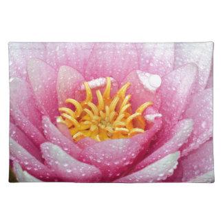 Rosa Wasserlilien-Blume Tischset