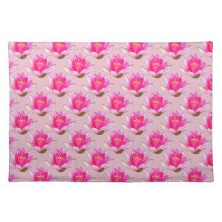 Rosa Wasserlilien rosa Hintergrund Tischset