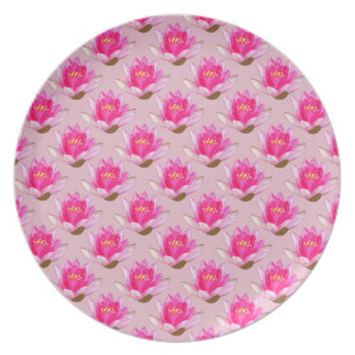 Rosa Wasserlilien Rosa Teller