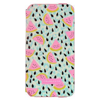 Rosa Wassermelone-Aqua-Leopard-Druck Incipio Watson™ iPhone 6 Geldbörsen Hülle