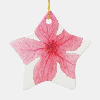 rosa Watercolor-Blume Keramik Ornament