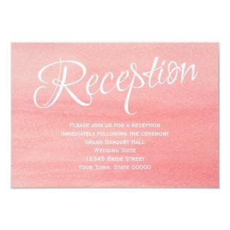 Rosa Watercolor-Hochzeits-Empfangs-Karte 8,9 X 12,7 Cm Einladungskarte