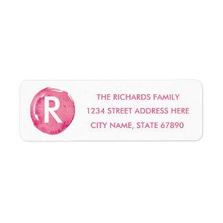 Rosa Watercolor-Punkt-Rücksendeadressen-Aufkleber