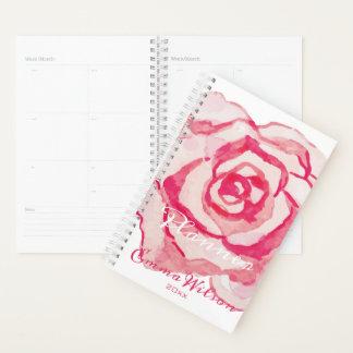 Rosa Watercolor-Rose | personalisiert Planer