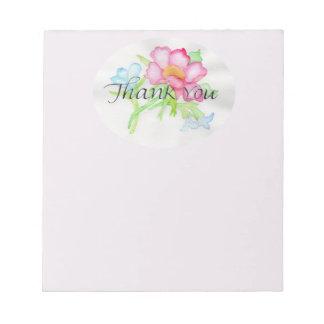 Rosa Watercolor-wilde Rosen-Miniblumenblumenstrauß Notizblock