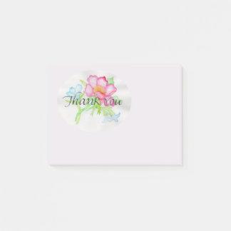 Rosa Watercolor-wilde Rosen-Miniblumenblumenstrauß Post-it Klebezettel