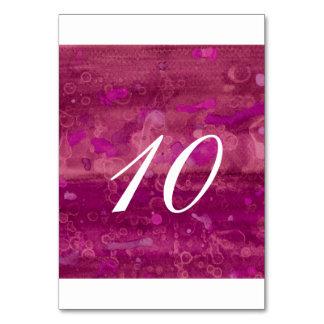 Rosa Wedding Tischnummer