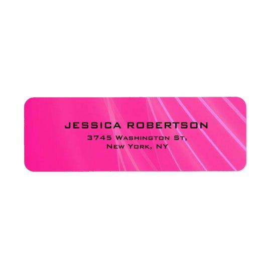 Rosa weibliches einfaches elegantes modernes rücksendeetiketten