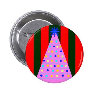 Rosa Weihnachten Runder Button 5,1 Cm