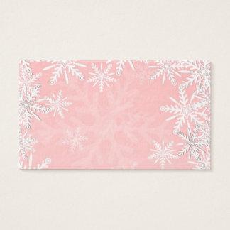 Rosa Weihnachten Visitenkarte