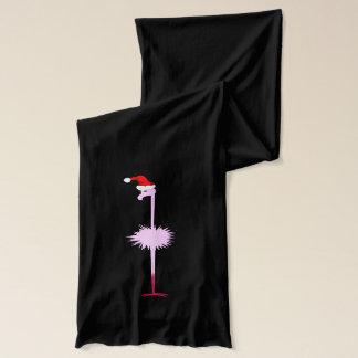 Rosa Weihnachtsflamingo Schal