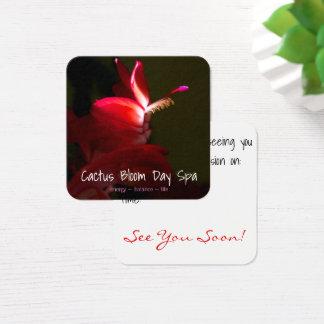 Rosa Weihnachtskaktuss-Blumen-Fotografie Quadratische Visitenkarte