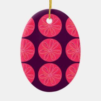 Rosa Wein der Entwurfszitronen Keramik Ornament
