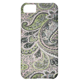 Rosa weises Case-Mate Paisleys iPhone 5 iPhone 5C Hülle