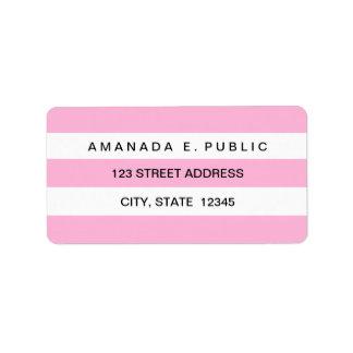 Rosa weiße feste adress aufkleber