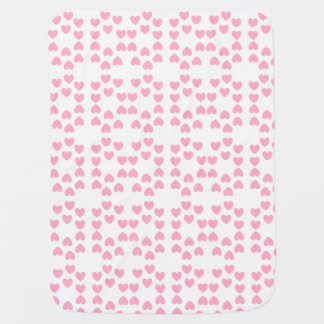 Rosa weiße Herz-Baby-Decke Babydecke