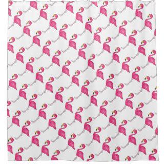 Rosa weißer Flamingo-Flamingo-Vogel-Duschvorhang Duschvorhang