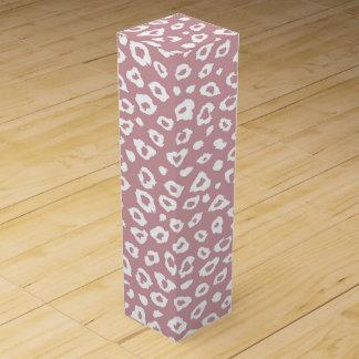 Rosa weißer Leopard-Druck Weinbox