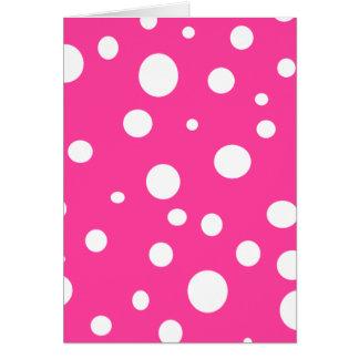 Rosa weißer Tupfen-Girly Mädchen-Spaß Karte
