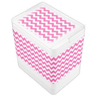 Rosa weißer Zickzack-Zickzack Muster Girly Kühlbox