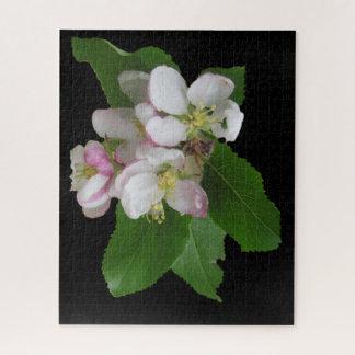 Rosa weißes Apple-Blumen-Puzzlespiel Puzzle