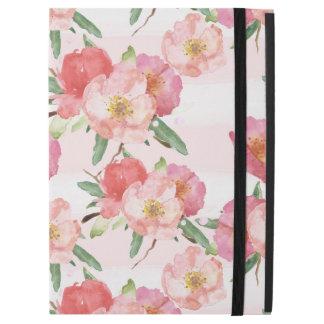 Rosa weißes Aquarell-Blumenstreifen