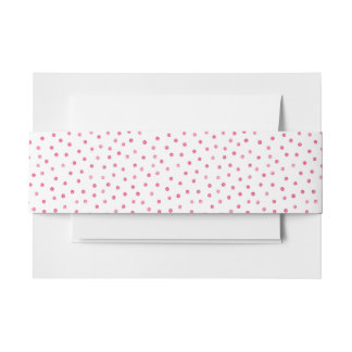 Rosa weißes Confetti-Punkt-Muster Einladungsbanderole
