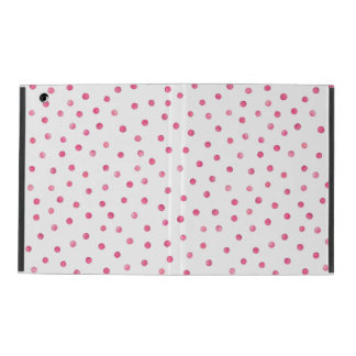 Rosa weißes Confetti-Punkt-Muster Hülle Fürs iPad