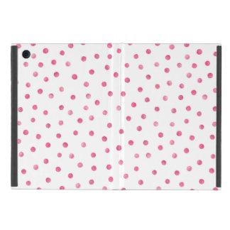 Rosa weißes Confetti-Punkt-Muster iPad Mini Schutzhüllen