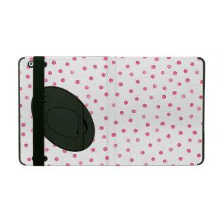 Rosa weißes Confetti-Punkt-Muster iPad Schutzhülle