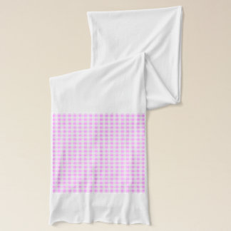 Rosa weißes Gingham-Muster Schal