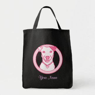 Rosa Welpen-Tasche Einkaufstasche