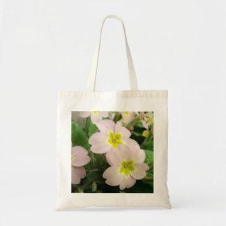 Rosa wilde Primel-Pflanze Tragetasche