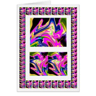 Rosa Wink-abstrakte Wellen - addieren Sie Text img Karte