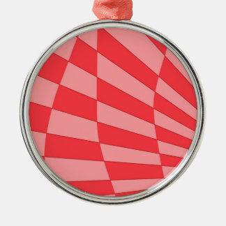Rosa Winkel-Entwurf Silbernes Ornament