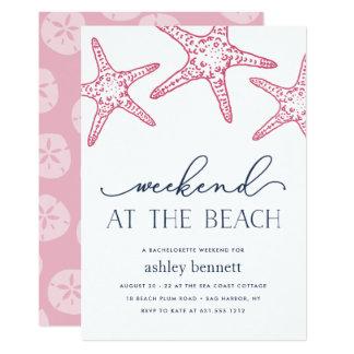 Rosa Wochenende der Starfish-| an der Karte