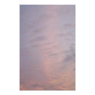 Rosa Wolken am Sonnenuntergang Briefpapier