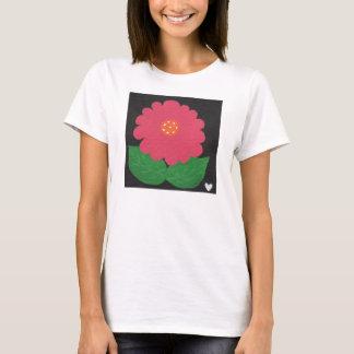 Rosa WUNDERLICHER BLUME die SS-T - Shirt weißer