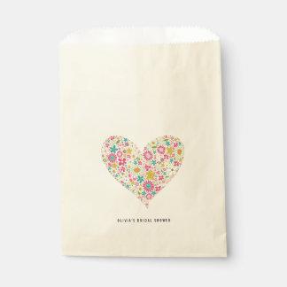 Rosa wunderliches Frühlings-Blumen-Herz-Liebe Geschenktütchen