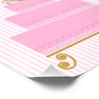 Rosa X12 des Herz-Kuchen-Plakats 8 glatt Poster