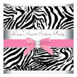 Rosa Zebra-16. Geburtstag-Geburtstags-Party