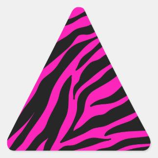 rosa Zebra Dreieckiger Aufkleber