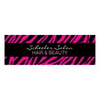 Rosa Zebra-Druck - kundenspezifische dünne Visitenkarte