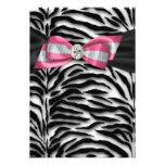 Rosa Zebra-Party Einladung UAWG